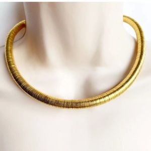 MMA Egyptian Revival Tribal Choker Necklace Gold